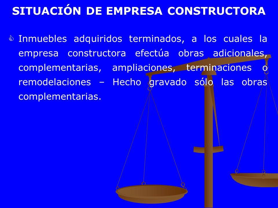 SITUACIÓN DE EMPRESA CONSTRUCTORA