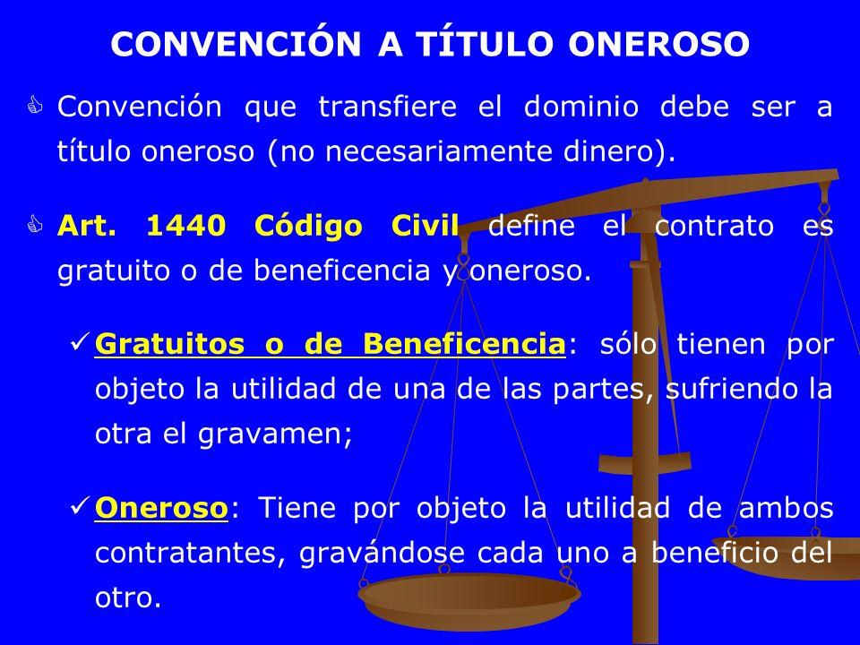 CONVENCIÓN A TÍTULO ONEROSO
