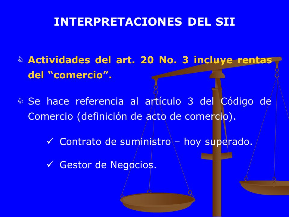 INTERPRETACIONES DEL SII