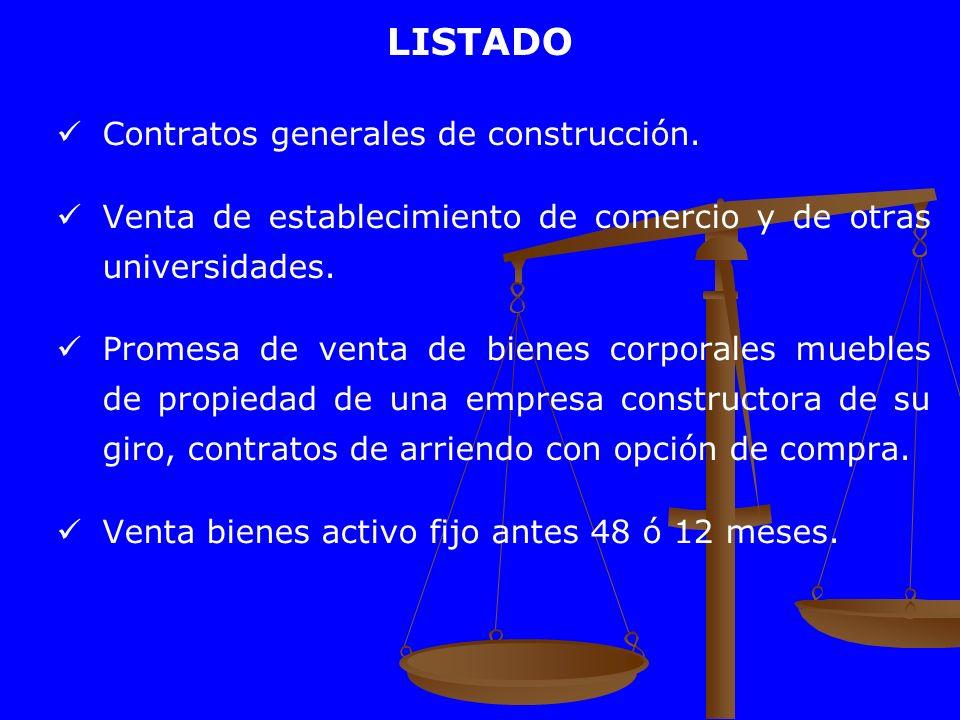 LISTADO Contratos generales de construcción.