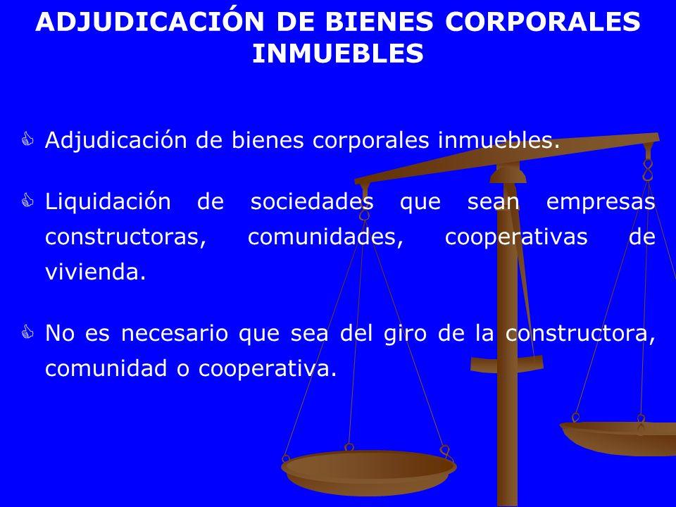ADJUDICACIÓN DE BIENES CORPORALES INMUEBLES