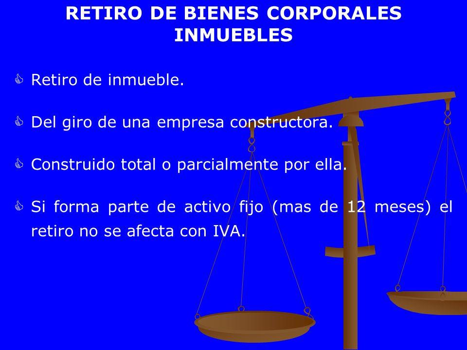 RETIRO DE BIENES CORPORALES INMUEBLES