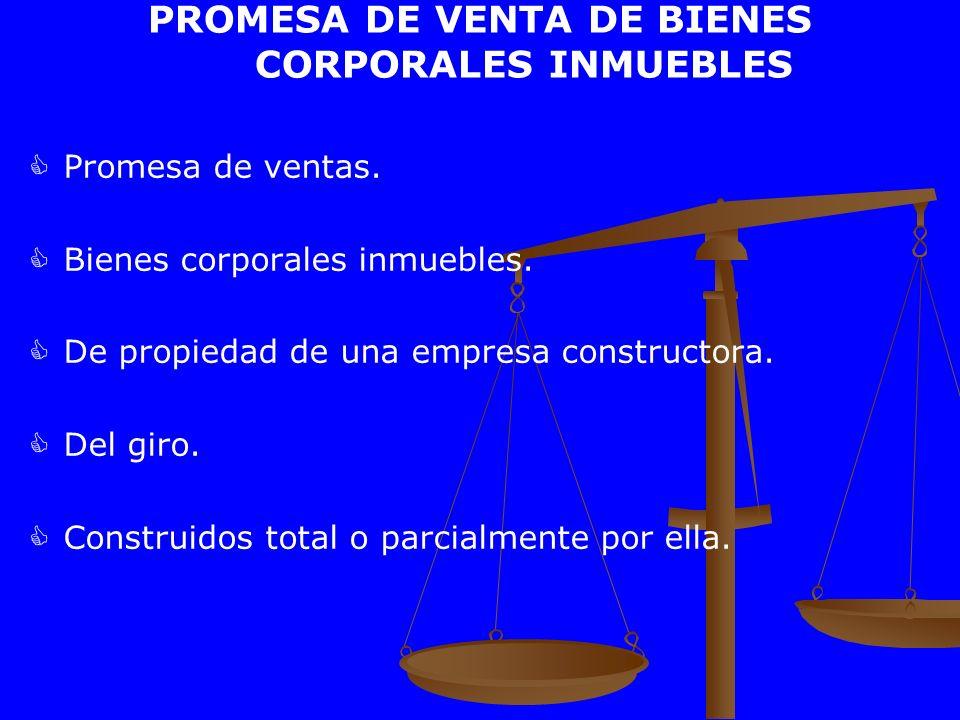 PROMESA DE VENTA DE BIENES CORPORALES INMUEBLES