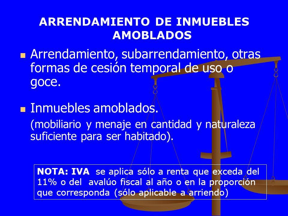 ARRENDAMIENTO DE INMUEBLES AMOBLADOS