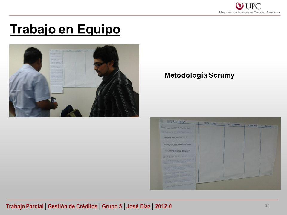Trabajo en Equipo Metodología Scrumy