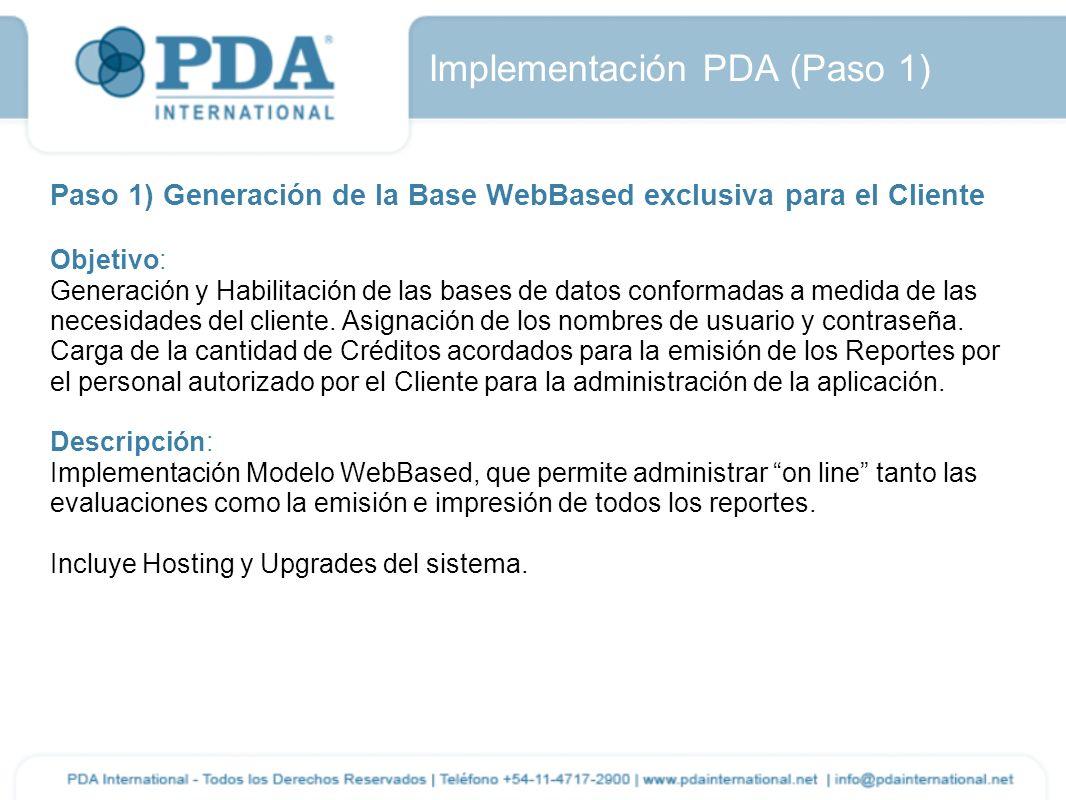Implementación PDA (Paso 1)