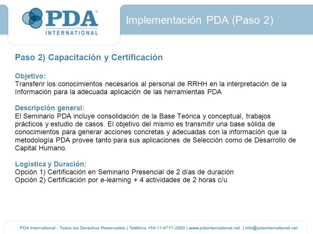 Implementación PDA (Paso 2)