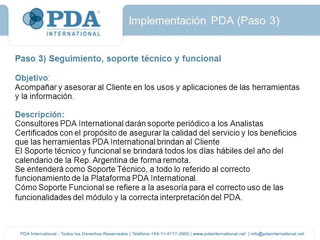 Implementación PDA (Paso 3)