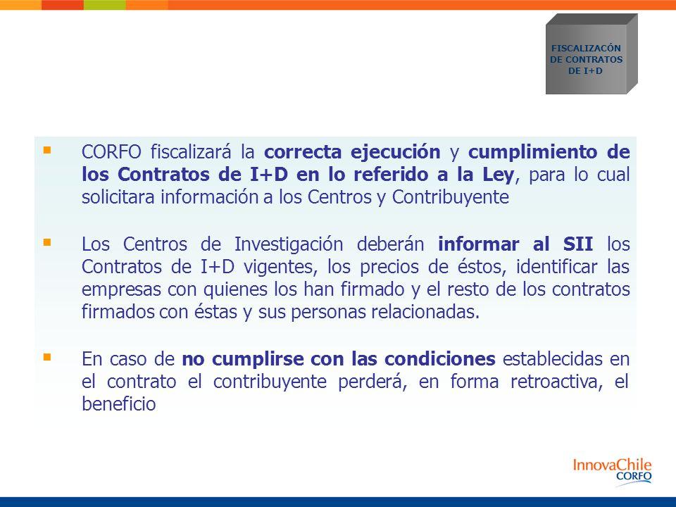 FISCALIZACÓN DE CONTRATOS. DE I+D.