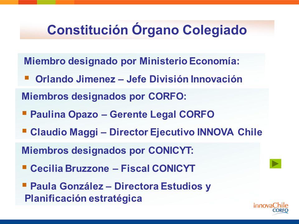 Constitución Órgano Colegiado