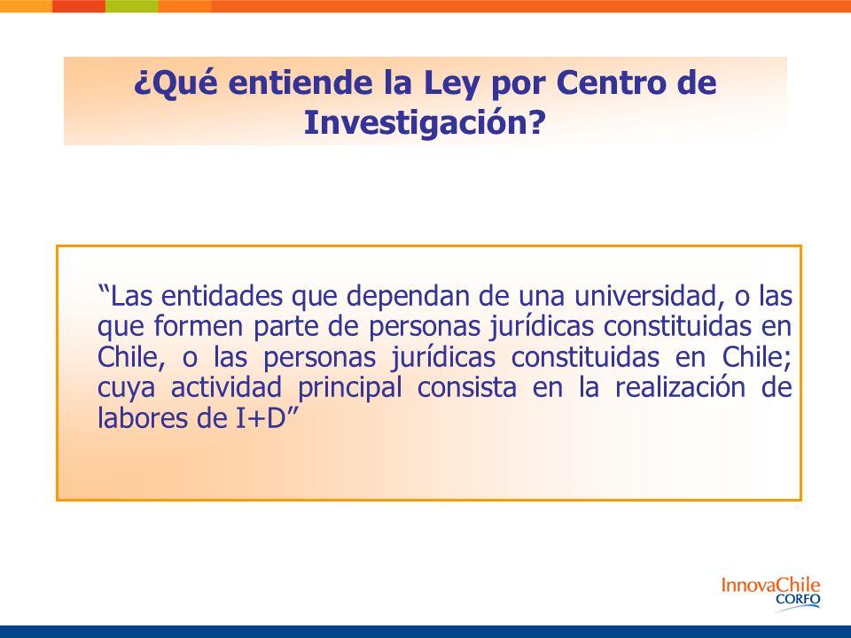 ¿Qué entiende la Ley por Centro de Investigación