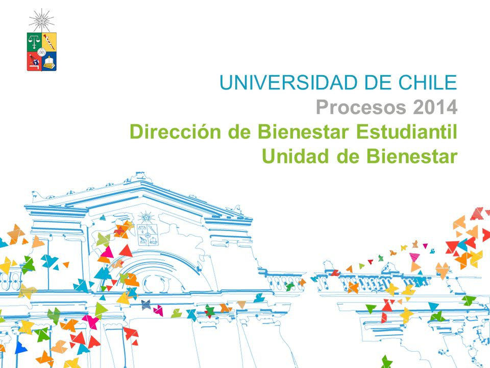 UNIVERSIDAD DE CHILE Procesos 2014 Dirección de Bienestar Estudiantil