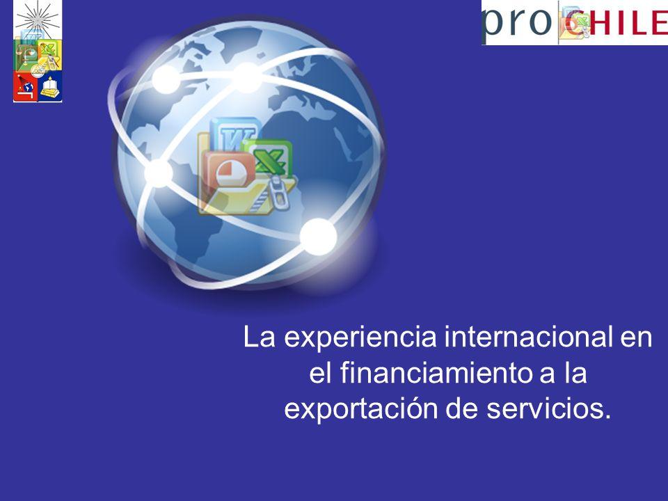 La experiencia internacional en el financiamiento a la exportación de servicios.