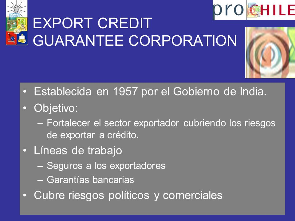 EXPORT CREDIT GUARANTEE CORPORATION