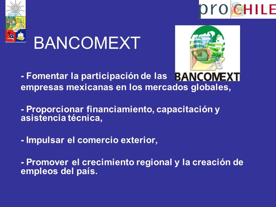 BANCOMEXT - Fomentar la participación de las