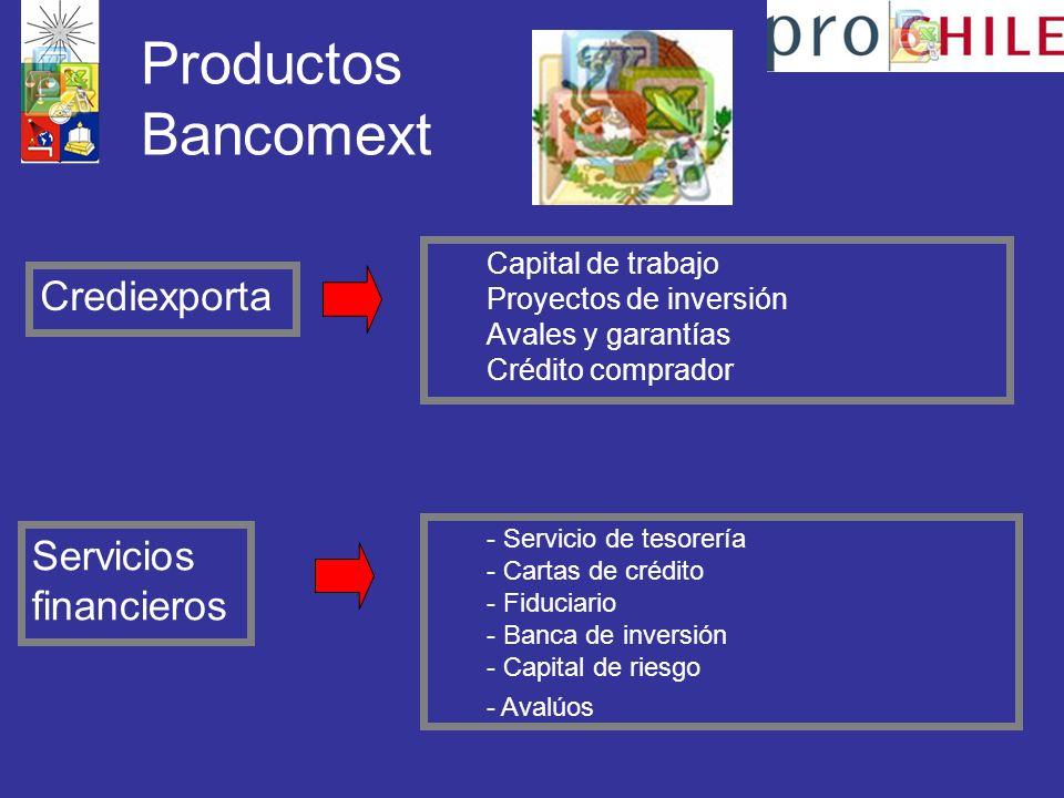 Productos Bancomext Crediexporta Servicios financieros