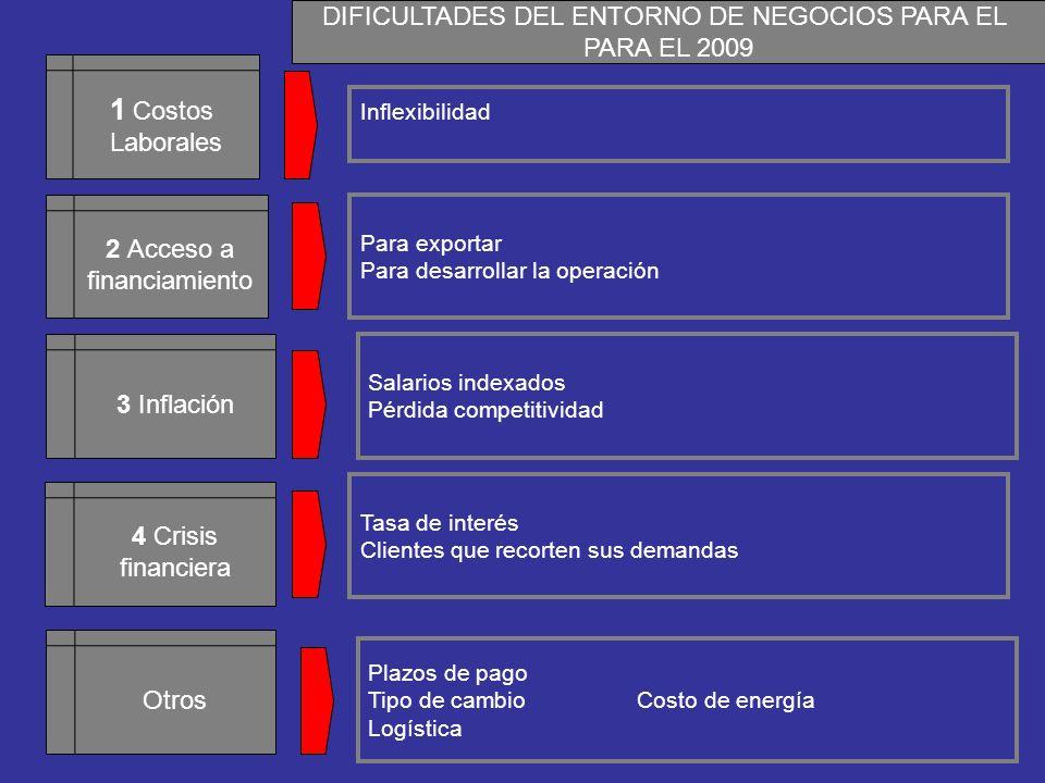 DIFICULTADES DEL ENTORNO DE NEGOCIOS PARA EL
