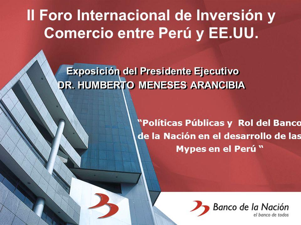 Exposición del Presidente Ejecutivo DR. HUMBERTO MENESES ARANCIBIA