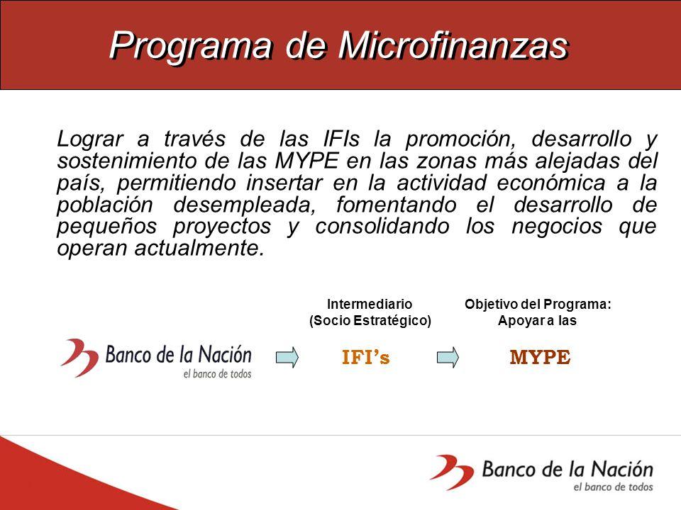 Programa de Microfinanzas