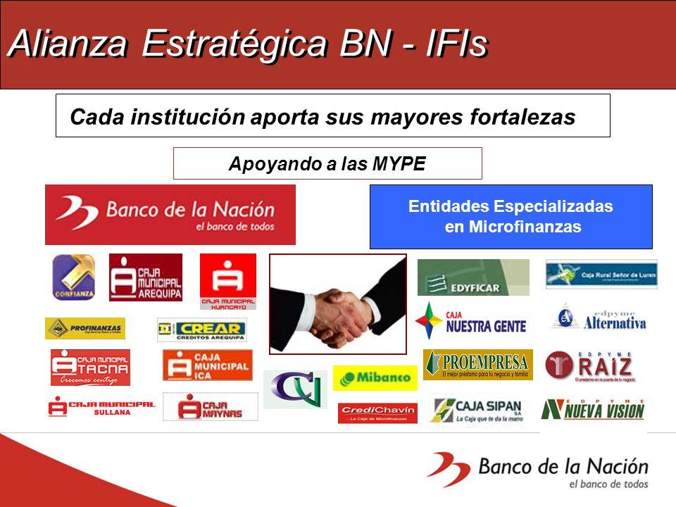 Alianza Estratégica BN - IFIs