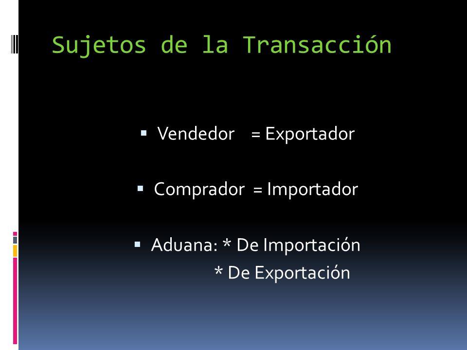 Sujetos de la Transacción