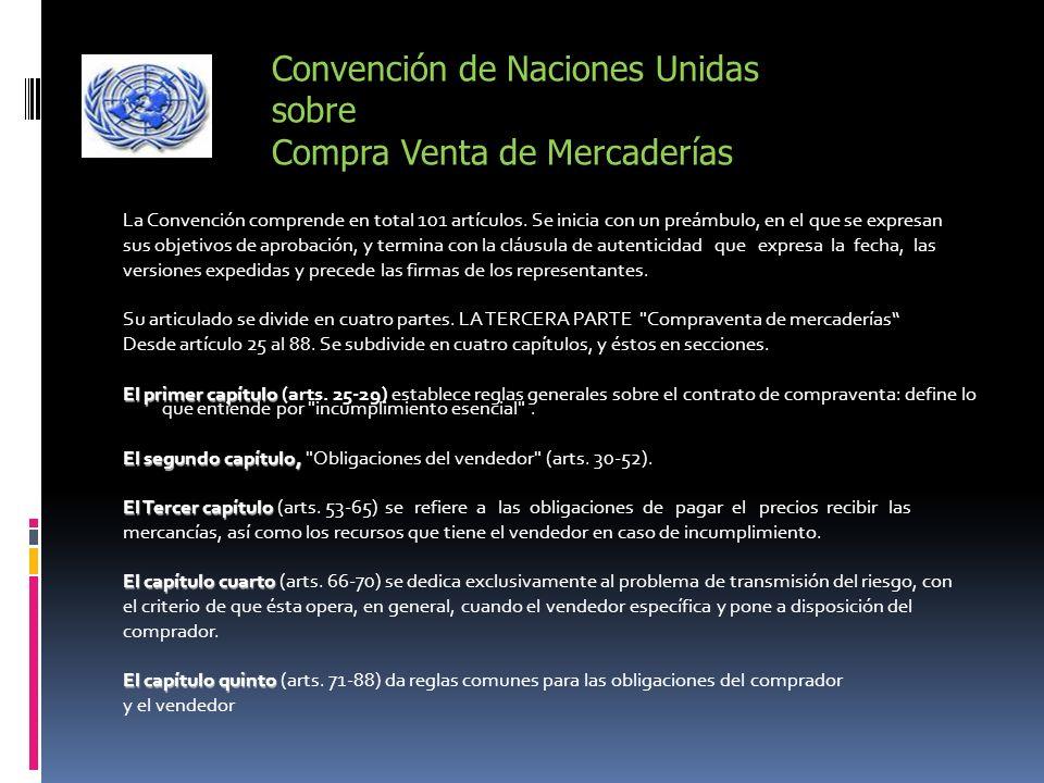 Convención de Naciones Unidas sobre Compra Venta de Mercaderías