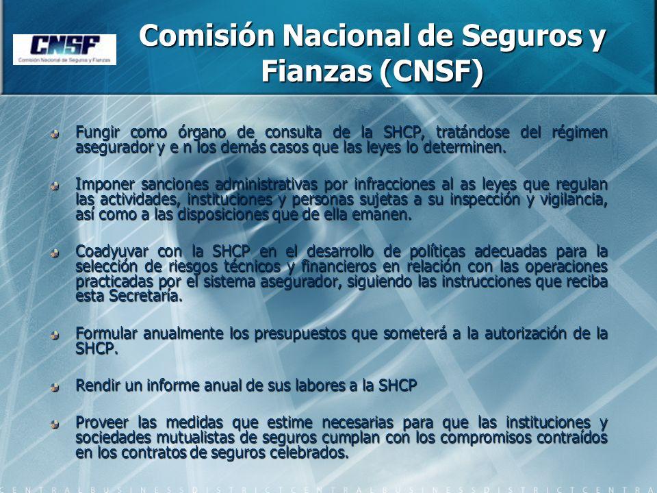 Comisión Nacional de Seguros y Fianzas (CNSF)