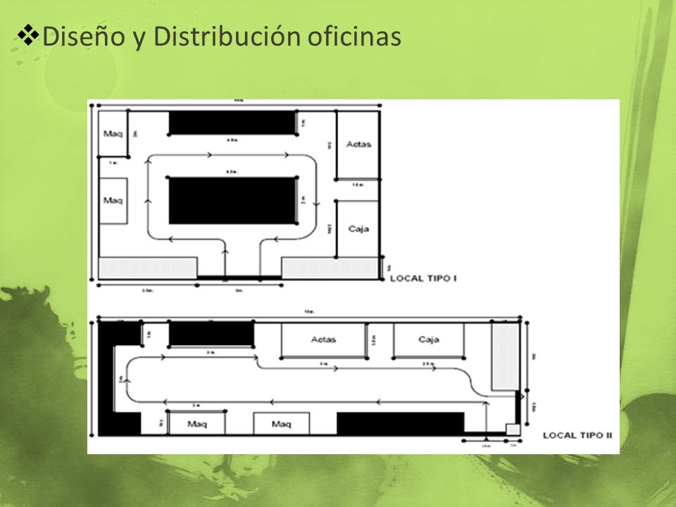Diseño y Distribución oficinas