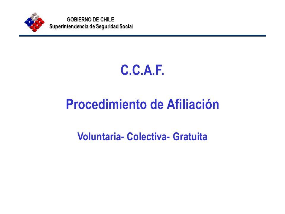 Procedimiento de Afiliación Voluntaria- Colectiva- Gratuita
