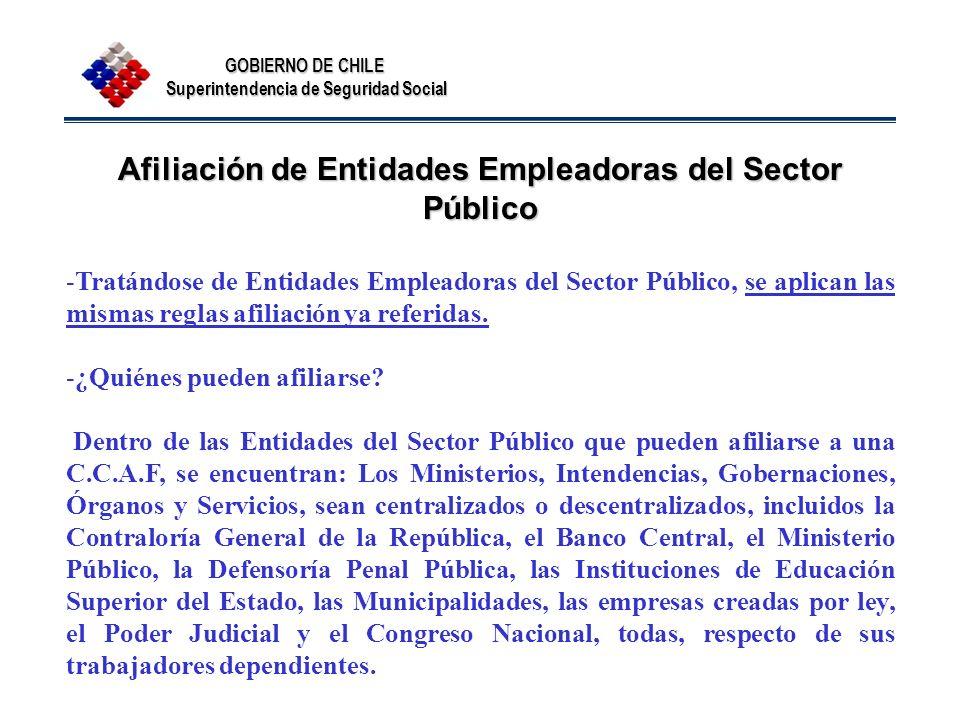 Afiliación de Entidades Empleadoras del Sector Público