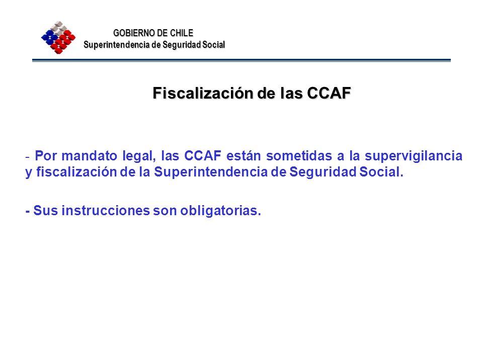 Fiscalización de las CCAF