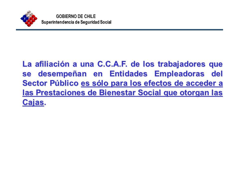 La afiliación a una C. C. A. F