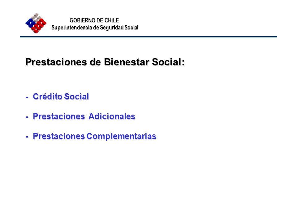 Prestaciones de Bienestar Social: