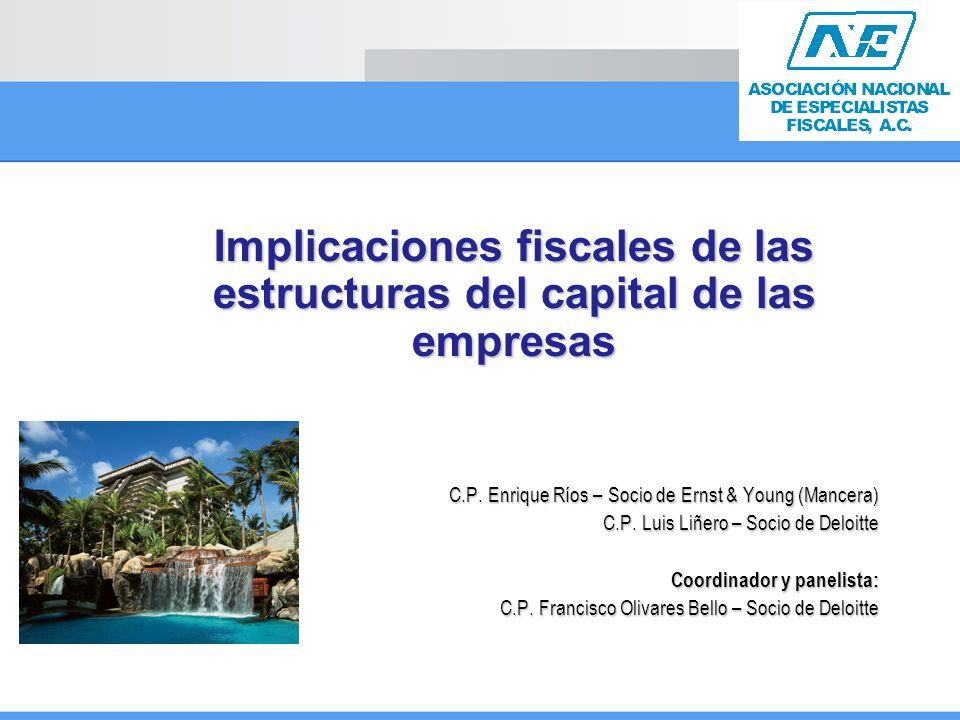 Implicaciones fiscales de las estructuras del capital de las empresas