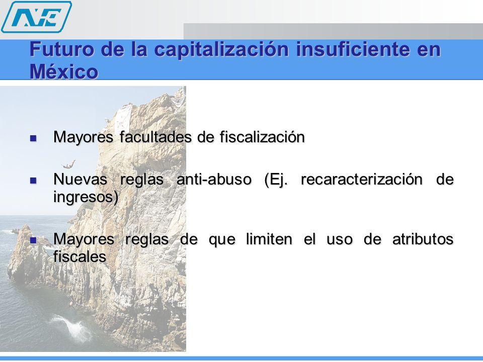 Futuro de la capitalización insuficiente en México