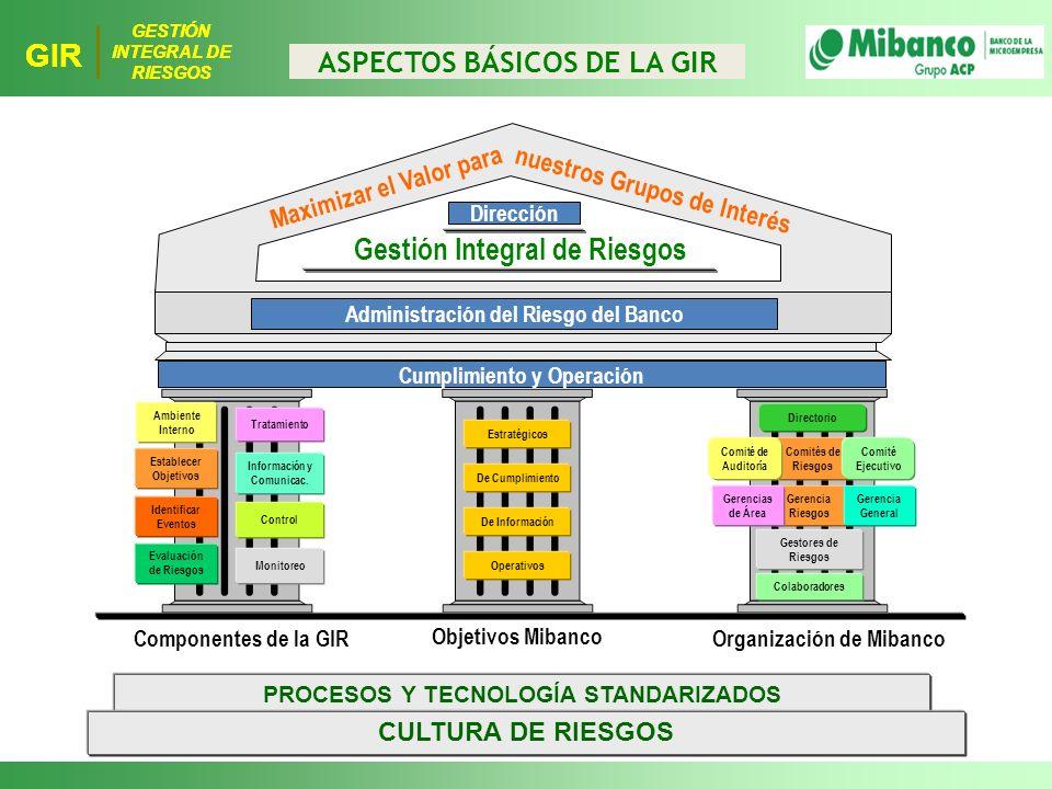 GIR Gestión Integral de Riesgos ASPECTOS BÁSICOS DE LA GIR