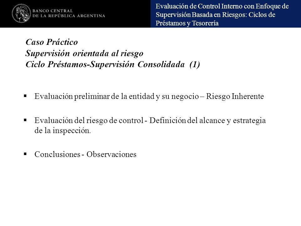 Caso Práctico Supervisión orientada al riesgo Ciclo Préstamos-Supervisión Consolidada (1)