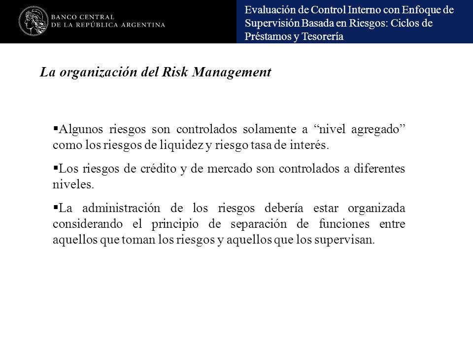 La organización del Risk Management