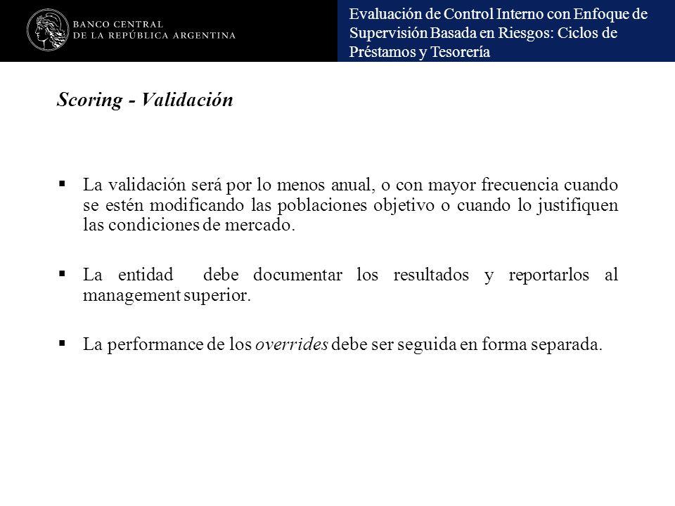 Scoring - Validación