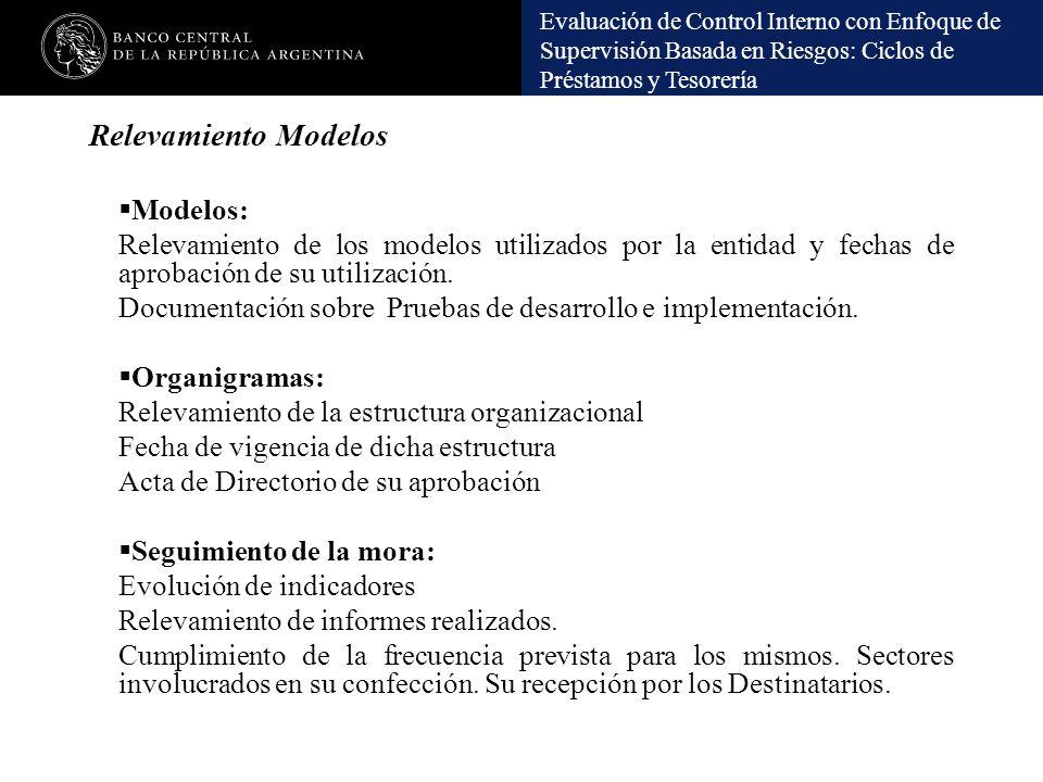 Relevamiento Modelos Modelos:
