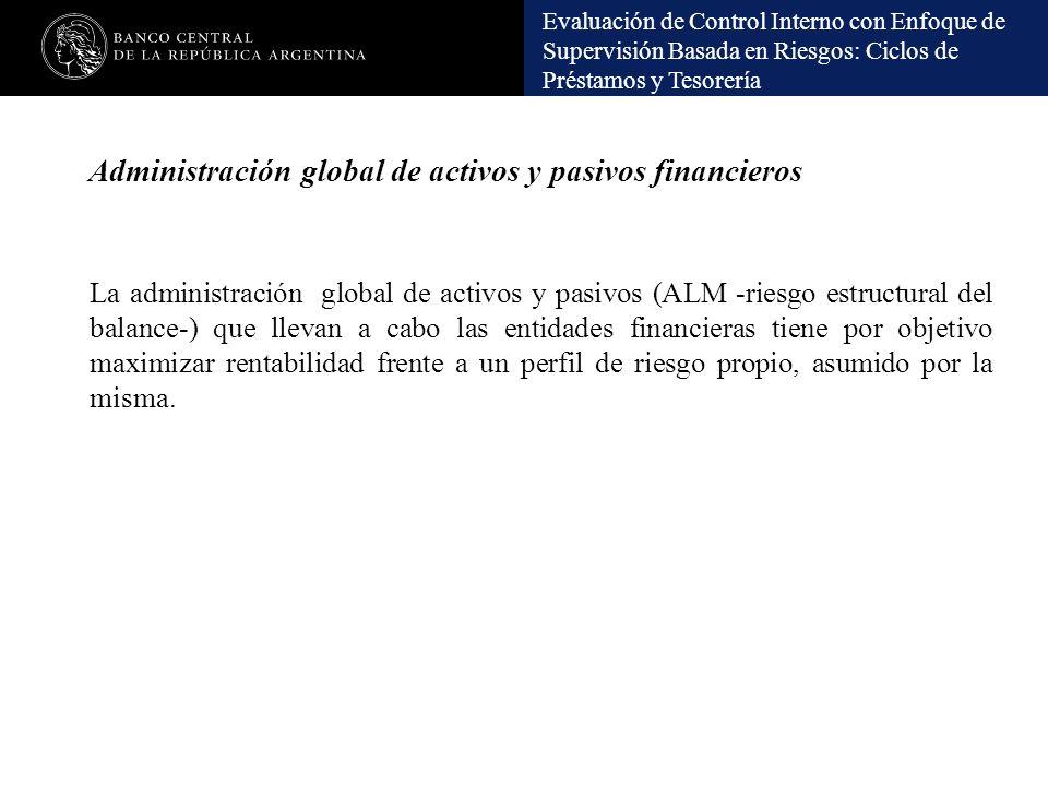 Administración global de activos y pasivos financieros