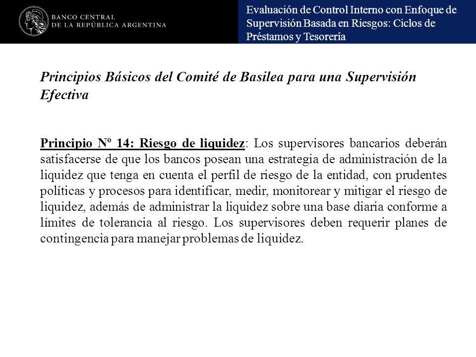 Principios Básicos del Comité de Basilea para una Supervisión Efectiva