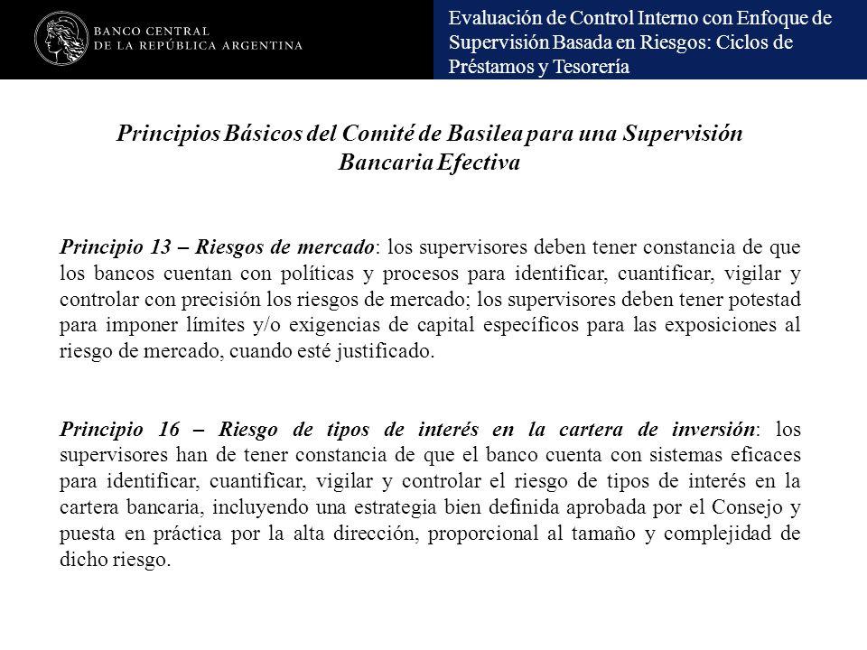 Principios Básicos del Comité de Basilea para una Supervisión Bancaria Efectiva