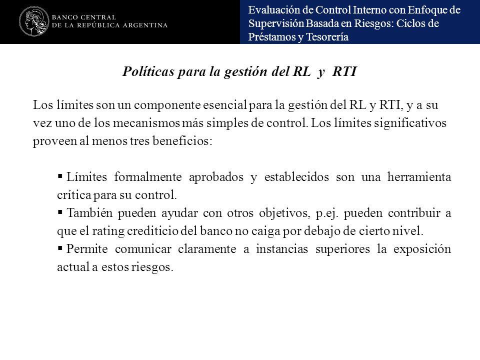 Políticas para la gestión del RL y RTI