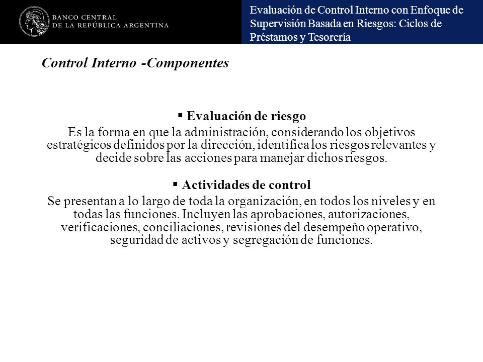 Control Interno -Componentes