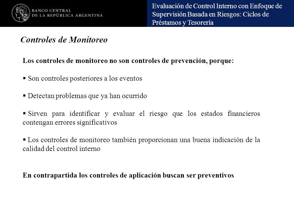 Controles de Monitoreo