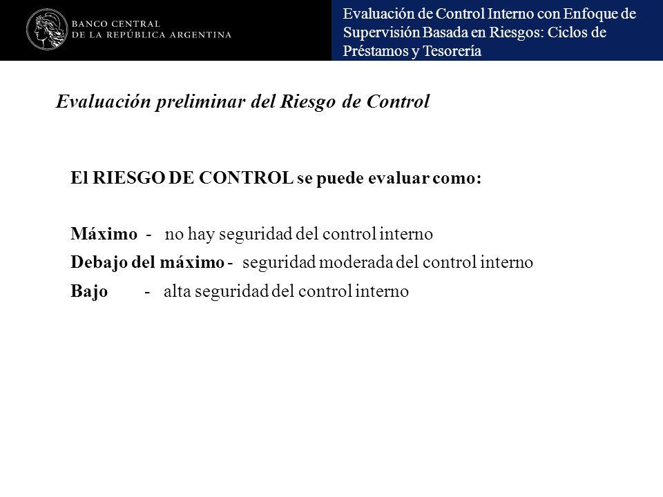 Evaluación preliminar del Riesgo de Control