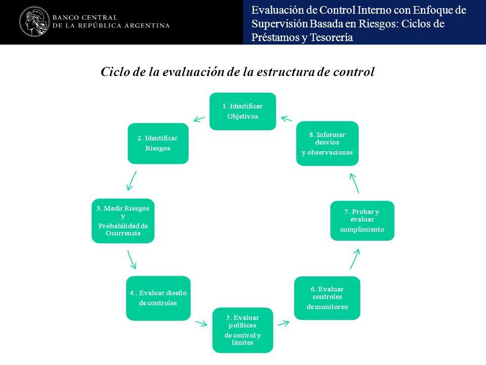 Ciclo de la evaluación de la estructura de control