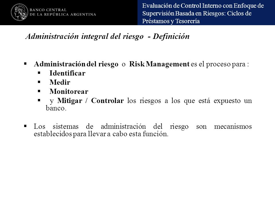 Administración integral del riesgo - Definición