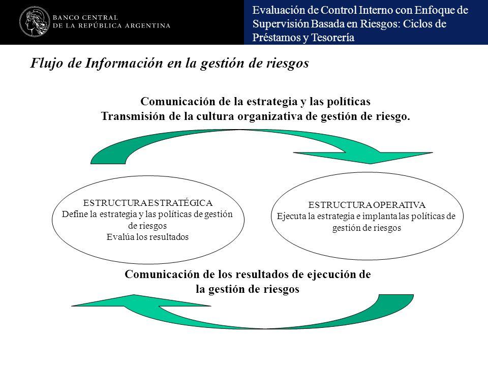 Flujo de Información en la gestión de riesgos